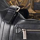 Портфель кожаный мужской чёрный FC-0111-L1 бренда FRANCO CESARE, фото 6