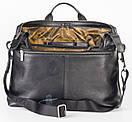Мужской кожаный портфель для документов коричневый FC-0114-L2 бренда FRANCO CESARE, фото 3