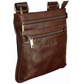 Кожаная наплечная сумка коричневая  FC-0311-L2
