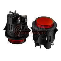 Кнопка нажимная PS-18-16, OFF-ON, 220V, красный
