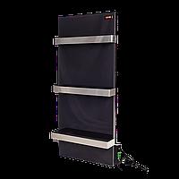 Стекло–керамический полотенцесушитель Dimol Standart 07 TR с терморегулятором чёрный