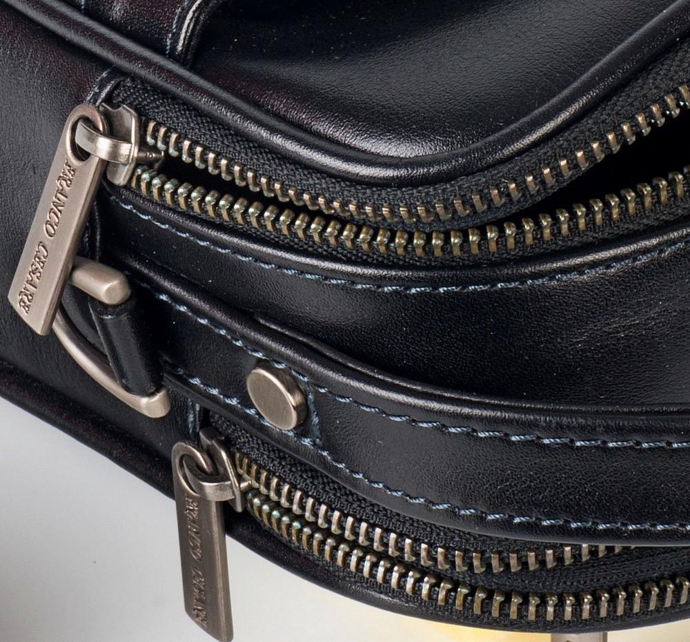 26d08cd0d01f Черная сумка-барсетка мужская кожаная от Franco Cesare FC-0344-L1, цена 3  190 грн., купить в Николаеве — Prom.ua (ID#380740951)