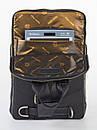 Стильный чёрный кожаный рюкзак FC-0416-L1 бренда FRANCO CESARE, фото 4