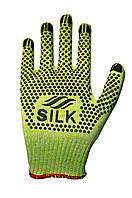 Трикотажні рукавиці з ПВХ Silk 1077з