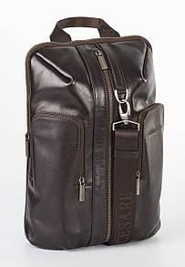 Стильный кожаный рюкзак коричневый FC-0416-L2