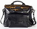 Практичная мужская сумка из чёрной кожи FC-3132-L1 бренда FRANCO CESARE, фото 3