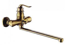 Смеситель для ванны Zerix бронза