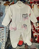 Комплект на выписку для новорожденной девочки. , фото 1