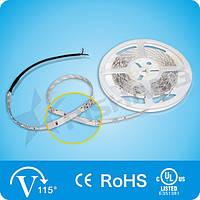 Холодно-белая  6,0W SMD3528 (60 LED/м) (cw) 13300-20780K Indoor IP33 Rishang Premium