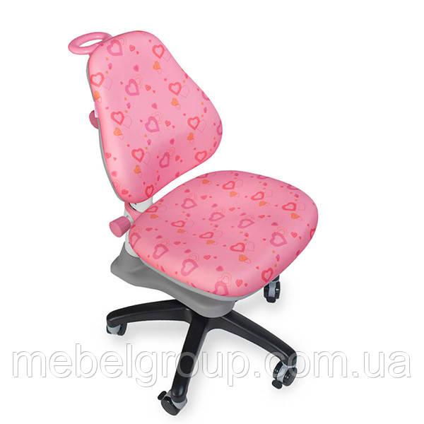 Детское ортопедическое кресло Comf-Pro ROYCE KY-318 White розовое сердца (белая рама)
