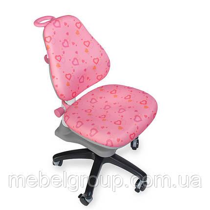 Детское ортопедическое кресло Comf-Pro ROYCE KY-318 White розовое сердца (белая рама), фото 2