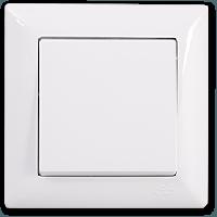 Выключатель 1-клавишный белый Gunsan Visage
