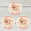 "Кондитерский декор Т-фишка ""Дед Мороз на санках"" (белая) Размер: диаметр 40мм, h=4мм, вес 6г"