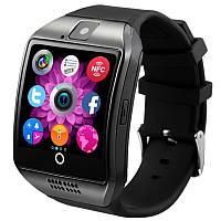 ☛Смарт-часы UWatch Q18 Black функция приём звонков через Bluetooth сенсорный экран карта памяти