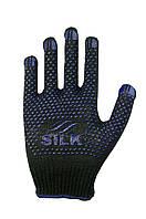 Трикотажні рукавиці з  ПВХ Silk 10032с