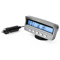 Автомобильные часы VST 7045V температура, вольтметр