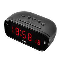 Автомобильные часы VST- 803C-1 красные