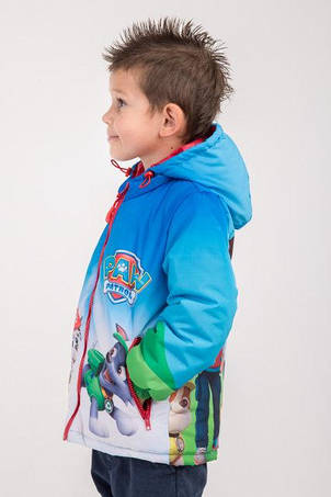 """Куртка весна-осень с принтом """"Щенячий патруль"""", 104,110,116 роста, фото 2"""