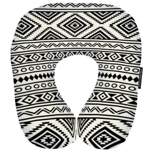 Дорожная подушка Геометрия серая 32х30 см (DOP_16J071)