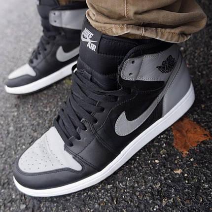 Мужские кроссовки Nike Air Jordan 1 Mid Shadow ( Реплика ) 44 размер, фото 2