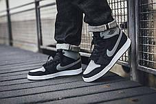 Мужские кроссовки Nike Air Jordan 1 Mid Shadow ( Реплика ) 44 размер, фото 3