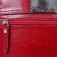 Кожаная сумка-почтальонка LASKARA LK-DD217-wine, женская , фото 7