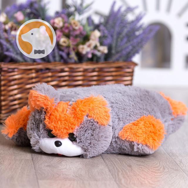 Подушка-игрушка Кошка, серая