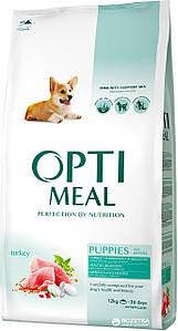 Сухой корм OPTIMEAL для щенков всех пород, с индейкой  4кг