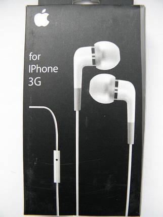 Гарнитура проводная Iphone 3, 3g, 3gs, 2, 4 AAA, фото 2