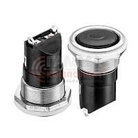 Кнопка нажимная AN 24-H, OFF-(ON), 6A, 250V (SPST 2 pin) Daier