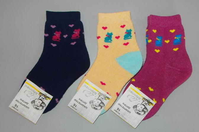 Дитячі шкарпетки махра 1 пару раз 26-28