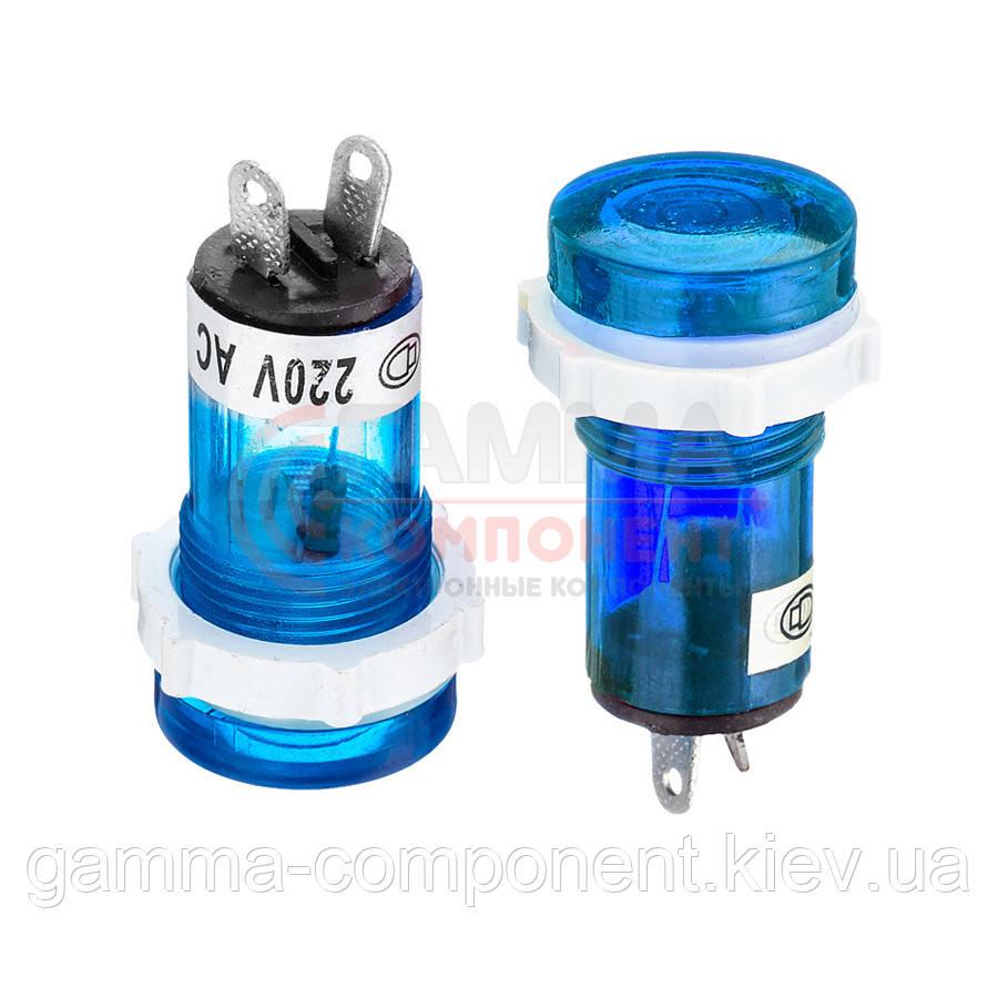 Светодиодный индикатор XD15-1, 220V, синий