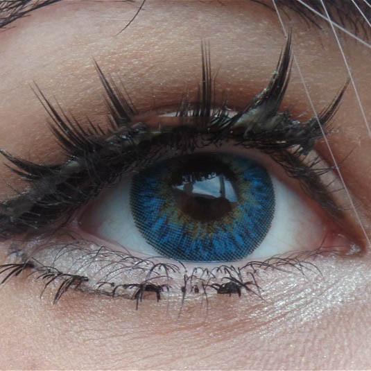 """Купить цветные контактные линзы для глаз """"Cuno Blue"""" Недорого в Украине."""