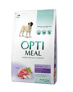 Сухий корм OPTIMEAL (Оптимил) для собак малих порід з качкою 12КГ