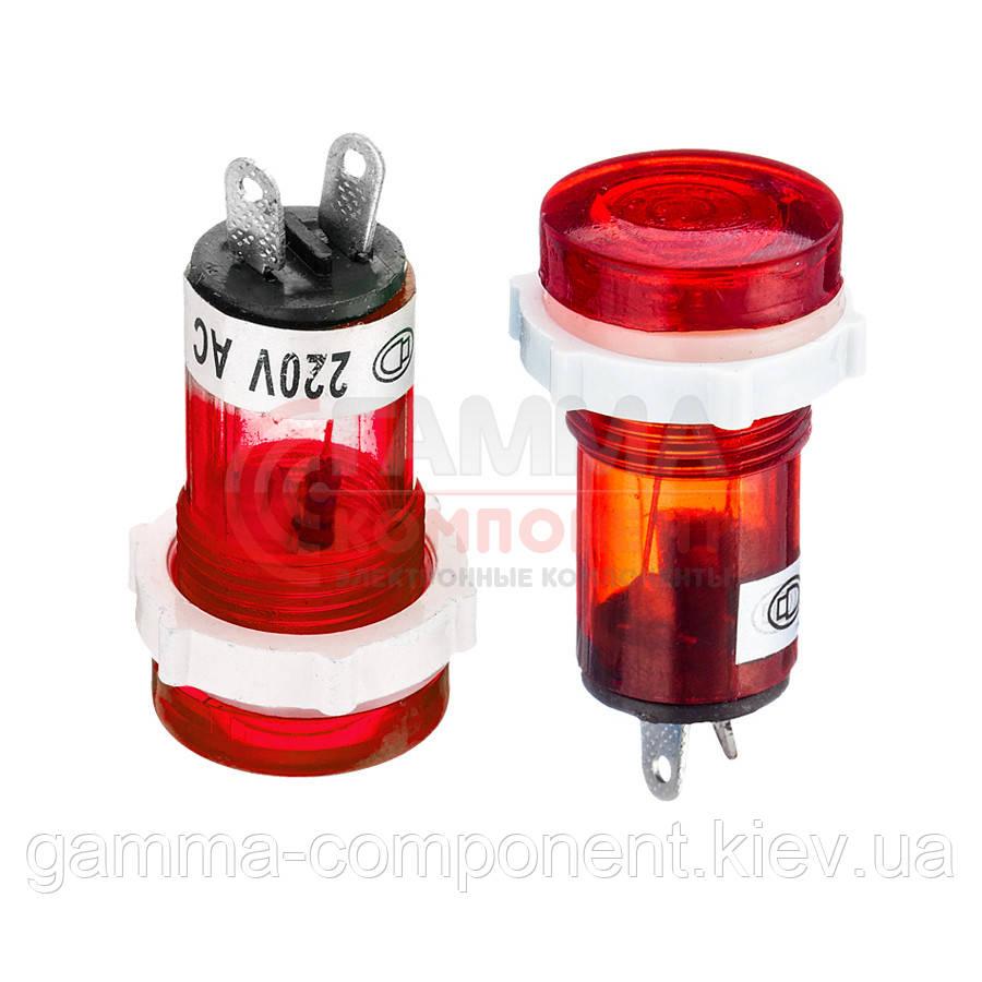 Светодиодный индикатор XD15-1, 220V, красный