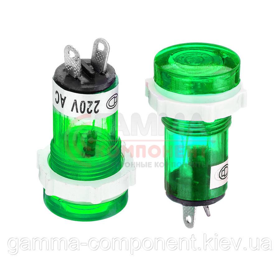 Светодиодный индикатор XD15-1, 220V, зеленый