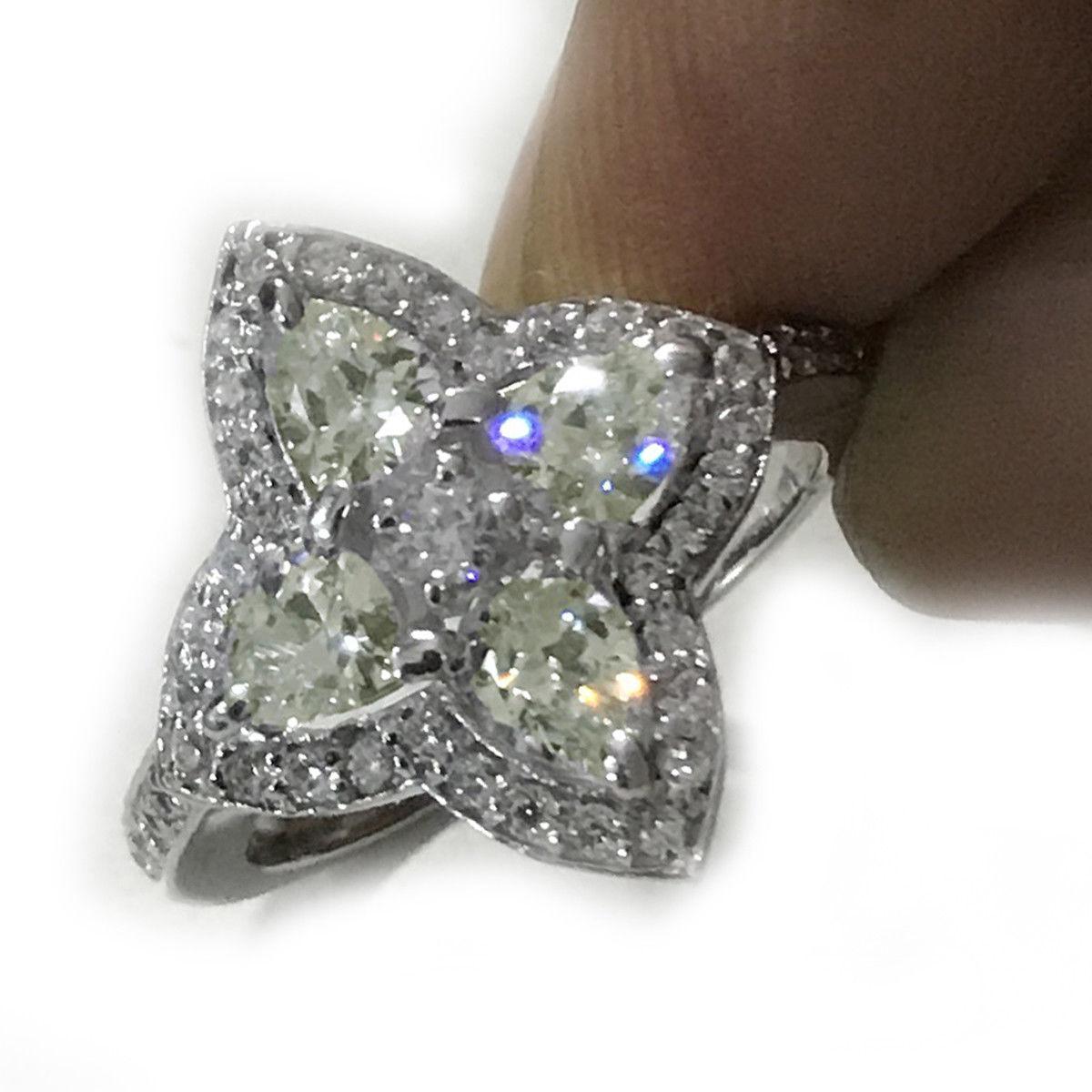 Кольцо 925 Муассанит - бриллиант   Размер 17.5