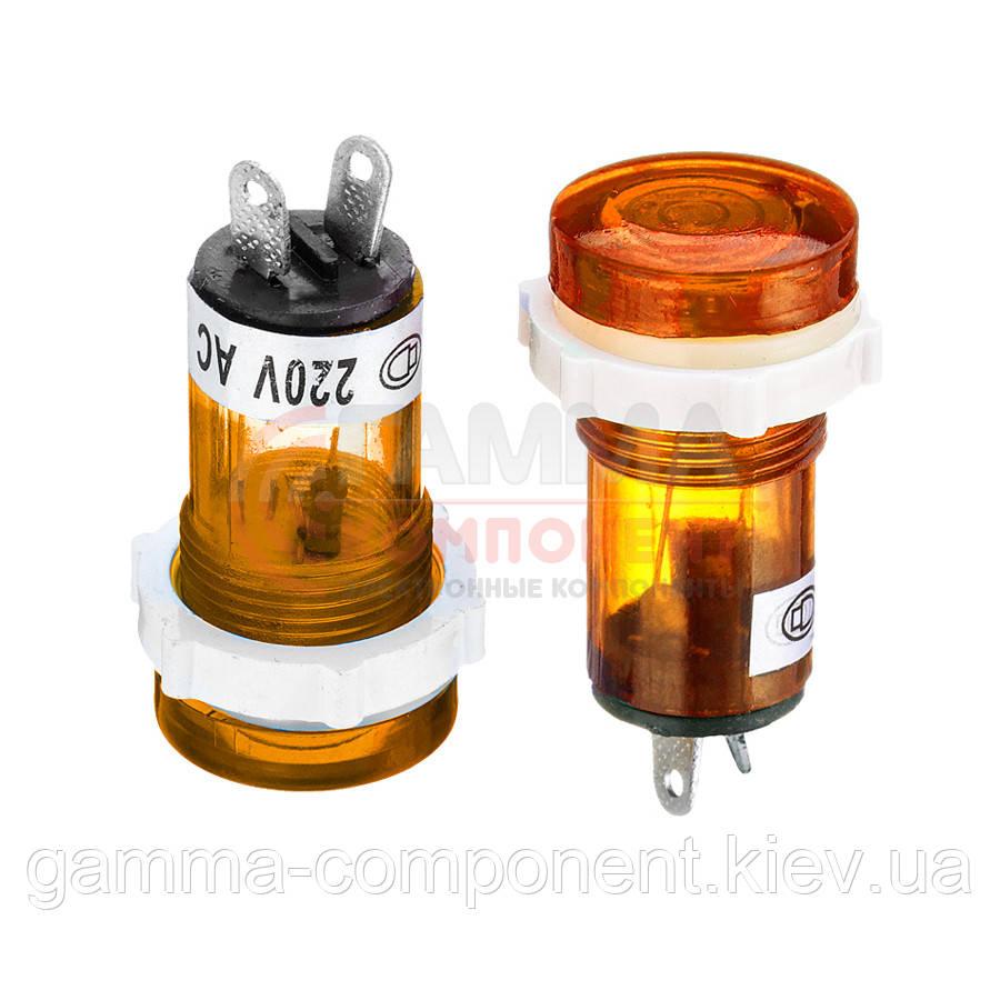 Светодиодный индикатор XD15-1, 220V, желтый