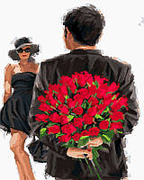 """GX 24531 """"Розы для любимой"""" Роспись по номерам на холсте 40х50см без коробки, в пакете"""