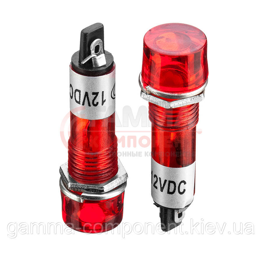 Светодиодный индикатор XD10-3, 220V, красный (od=10mm)