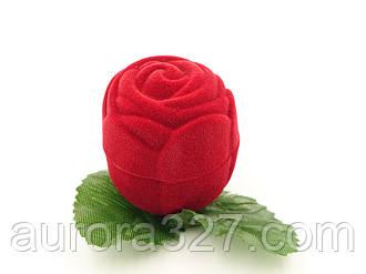 """Футляр для кільця """"Троянда маленька"""" червона"""