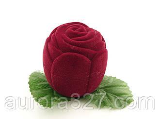 """Футляр для кільця """"Троянда маленька"""" бордо"""