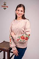 Жіночий світшот Райські квіти оранж