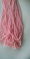 Бусины  8 мм на нитке, цвет:розовый