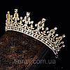 Диадема тиара Диана Gold корона шикарная Тиара Виктория украшения, фото 4