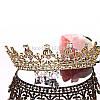 Диадема тиара Диана Gold корона шикарная Тиара Виктория украшения, фото 5