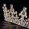 Диадема тиара Диана Gold корона шикарная Тиара Виктория украшения, фото 7