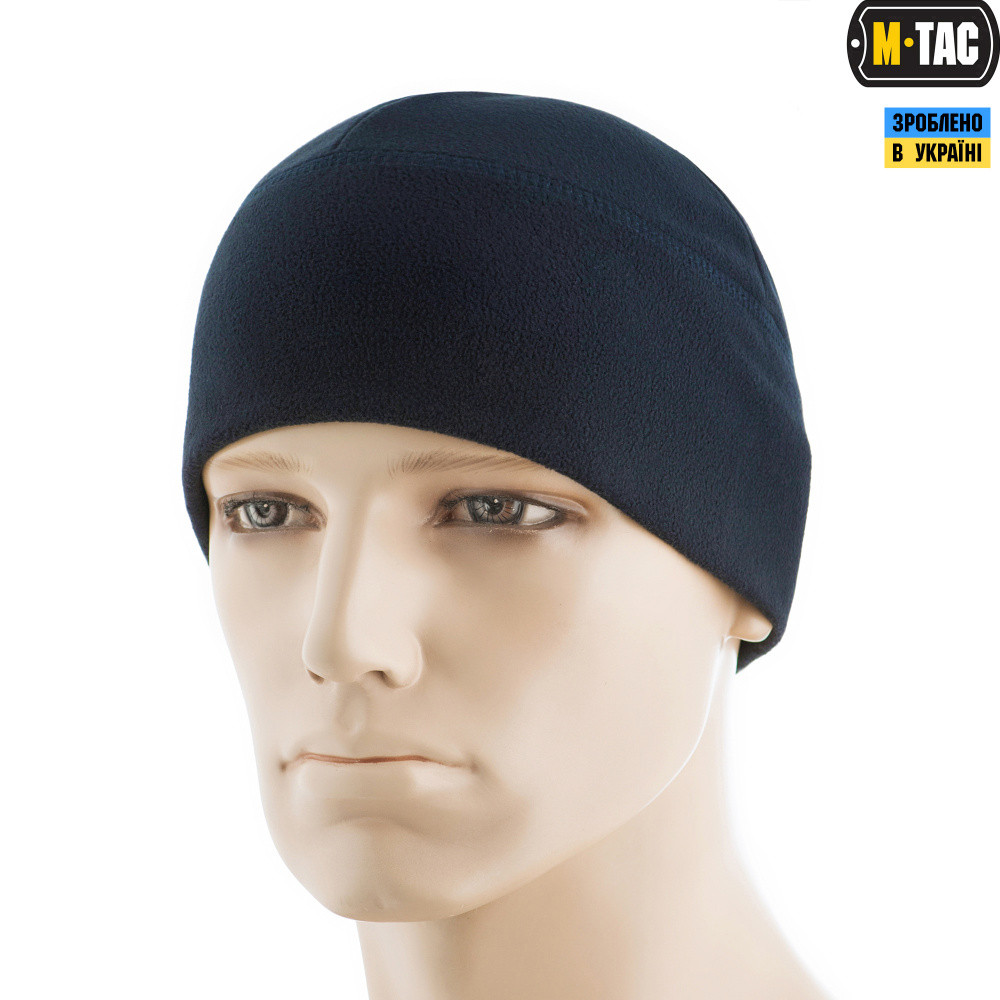 M-Tac шапка Watch Cap Elite флис Windblock 295 Dark Navy Blue