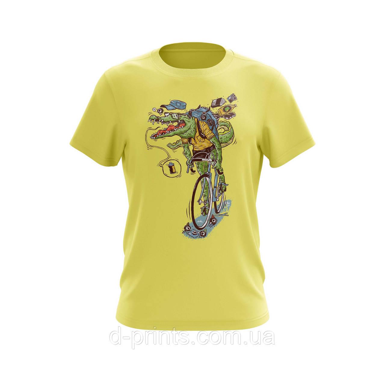 "Футболка мужская с рисунком ""Крокодил"" MF-12-09"