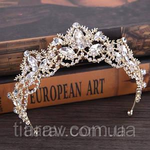 Диадема свадебная корона ДАНИЭЛЬ тиара для волос Тиара Виктория шикарная